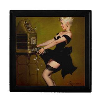 Vintage Gil Elvgren Slot Machine Pinup Girl Gift Box