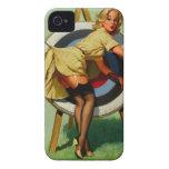 Vintage Gil Elvgren Target Archery Pinup Girl iPhone 4 Case-Mate Case