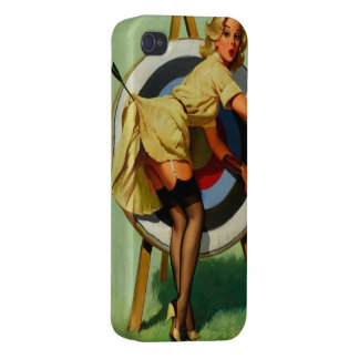 Vintage Gil Elvgren Target Archery Pinup Girl Covers For iPhone 4