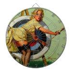 Vintage Gil Elvgren Target Archery Pinup Girl Dartboards