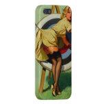 Vintage Gil Elvgren Target Archery Pinup Girl iPhone 5 Cases