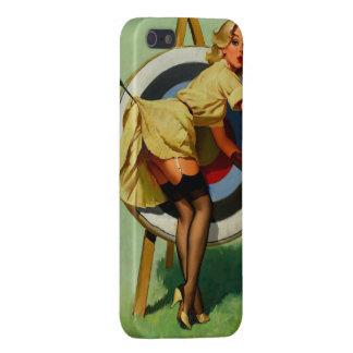 Vintage Gil Elvgren Target Archery Pinup Girl iPhone SE/5/5s Cover