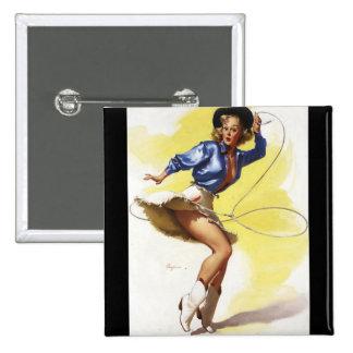 Vintage Gil Elvgren Western Cowgirl Pin UP Girl