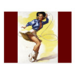 Vintage Gil Elvgren Western Cowgirl Pin UP Girl Post Card