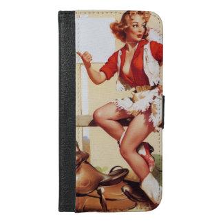 Vintage Gil Elvgren Western Saddle Pinup Girl iPhone 6/6s Plus Wallet Case