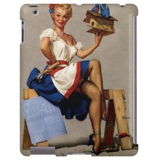 Vintage Gil Elvgren Woodworking pinup girl