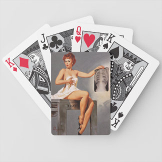 Vintage Gil Elvgren X Ray Radiography Pinup Girl Bicycle Playing Cards