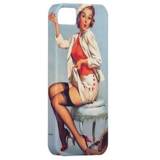 Vintage Gil retro Elvgren que cose el Pin ENCIMA d iPhone 5 Fundas