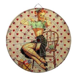 Vintage Gil retro Elvgren que hace punto el Pin