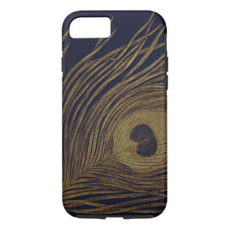 Vintage Gilded Peacock Feather iPhone 7 Case