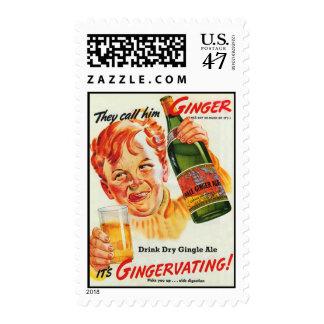 Vintage Ginger Ad Postage Stamp