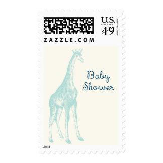 Vintage Giraffe Baby Shower Postage
