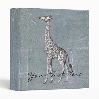 Vintage Giraffe Vinyl Binder