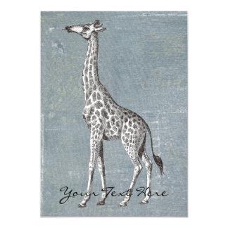 Vintage Giraffe Card