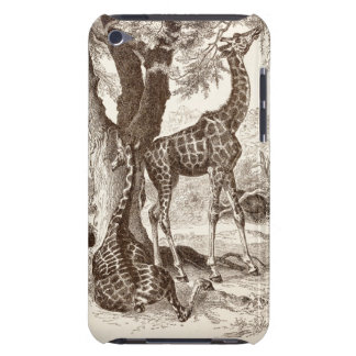 vintage giraffe case - customized template barely there iPod covers