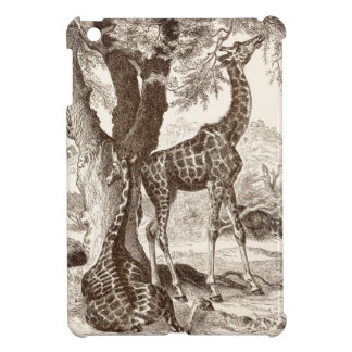 vintage giraffe case - customized template iPad mini covers