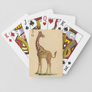 Vintage Giraffe drawing from an old Rummy card