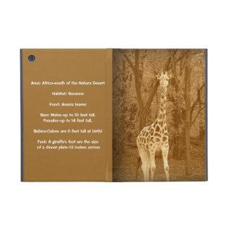 Vintage Giraffe-Fun Facts Covers For iPad Mini