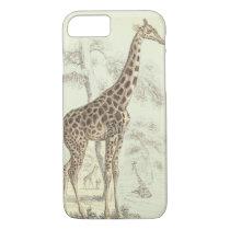vintage giraffe iphone iPhone 8/7 case