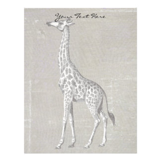 Vintage Giraffe Letterhead