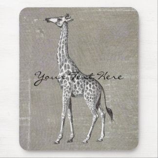 Vintage Giraffe Mouse Pad