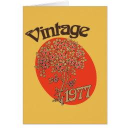 Birth year 1977 cards greeting photo cards zazzle vintage girl 1977 birth year for birthday card bookmarktalkfo Gallery