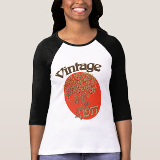 Vintage Girl 1977 birth year for birthday T-Shirt