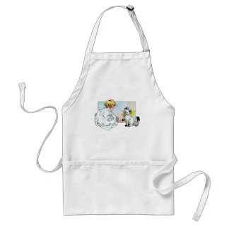 Vintage Girl and Cat Apron