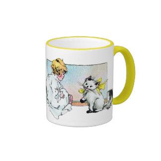 Vintage Girl and Cat Coffee Mug
