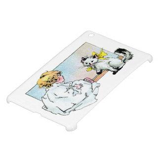 Vintage Girl and Cat iPad Mini Case