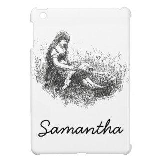 Vintage Girl and Lamb iPad Mini Cases