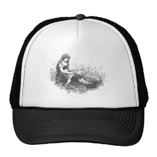Vintage Girl and Lamb Trucker Hat