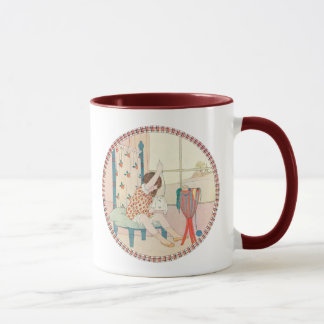 Vintage Girl and Needlework by Willebeek Le Mair Mug