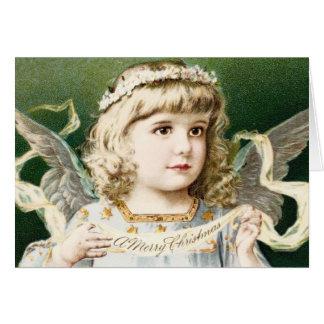 Vintage Girl Angel Greeting Card