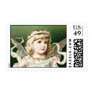 Vintage Girl Angel Postage