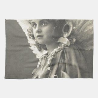 Vintage Girl Angel Symbol of Hope 1900s Anchor Kitchen Towel