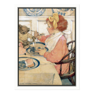 Vintage Girl at Breakfast by Jessie Willcox Smith Postcard