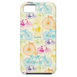 Vintage Girl Bright Colors Bike Pattern Iphone 5 iPhone 5 Covers
