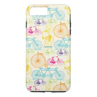 Vintage Girl Bright Colors Bike Pattern Iphone 5 iPhone 7 Plus Case