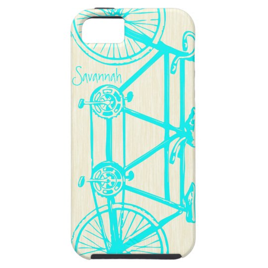 Vintage Girl Bright Colors Bike Pattern Iphone 5 iPhone SE/5/5s Case