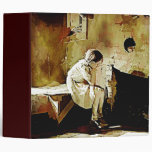 Vintage Girl by Fireplace Avery Binder