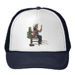 Vintage Girl Cowgirl Looking  Mirror She's so Vain Trucker Hat