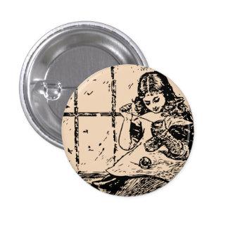 Vintage Girl Darning Button