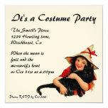 Vintage Girl Halloween Invitation