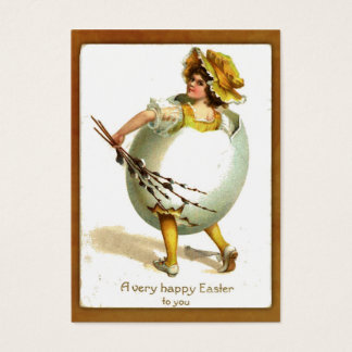 Vintage Girl in Egg Costume Gift Tag