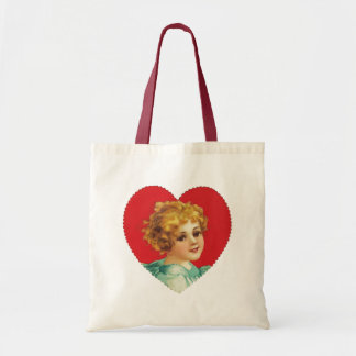 Vintage Girl in Heart #2 Tote Budget Tote Bag