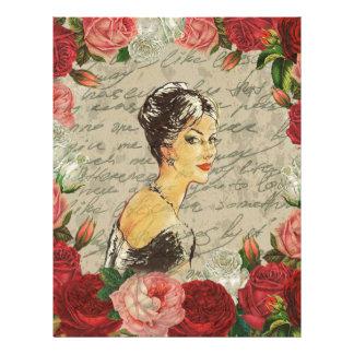 Vintage girl letterhead
