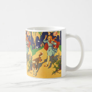 Vintage Girl Little Red Riding Hood Birthday Party Coffee Mug
