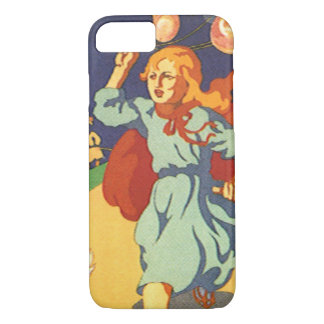 Vintage Girl Little Red Riding Hood Birthday Party iPhone 8/7 Case