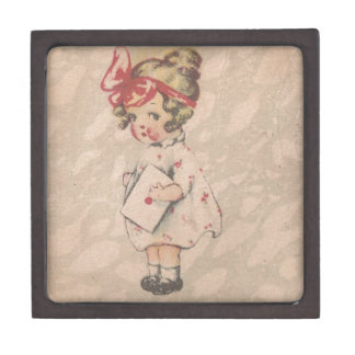 Vintage Girl Mail The Letter You Promised Gift Box